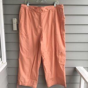 J.JILL Lightweight Cotton Cropped Pants Sz.18